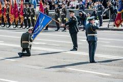 Militaire parade voor de Oekraïense Onafhankelijkheidsdag Stock Afbeelding