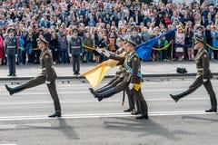 Militaire parade voor de Oekraïense Onafhankelijkheidsdag Royalty-vrije Stock Foto