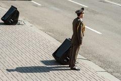 Militaire parade voor de Oekraïense Onafhankelijkheidsdag Stock Foto's