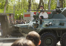 Militaire Parade voor de 70ste verjaardag van de overwinning over fas Stock Afbeelding