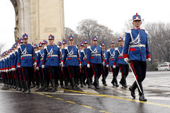 Militaire parademilitairen Stock Foto