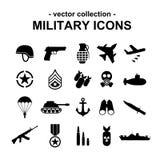 Militaire pictogrammen Stock Foto