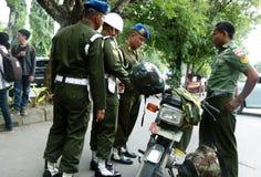 Militaire politie royalty-vrije stock afbeeldingen