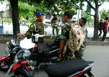 Militaire politie stock foto