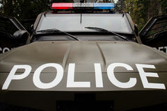 Militaire politieauto stock foto's