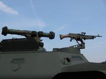 Militaire - réservoir avec la mitrailleuse Photos stock