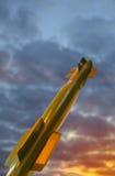 Militaire raket in hemel Royalty-vrije Stock Afbeelding