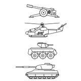 Militaire reeks Stock Afbeeldingen