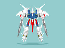 Militaire robottransformator royalty-vrije illustratie
