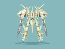 Militaire robottransformator stock illustratie