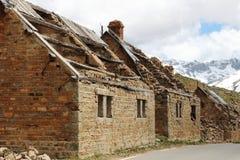 Militaire ruïnes van Kamp des Fourches, Maritieme Alpen, Frankrijk royalty-vrije stock foto's