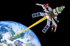 Militaire satelliet Stock Afbeelding
