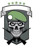 Militaire schedel royalty-vrije illustratie