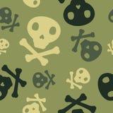 Militaire schedel royalty-vrije stock foto