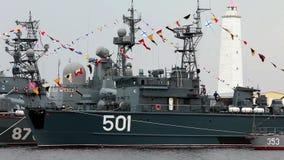 Militaire schepen stock video