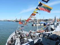 Militaire schepen Stock Afbeeldingen