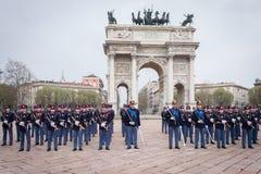 Militaire schoolkadetten in de eedceremonie royalty-vrije stock afbeelding