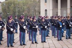 Militaire schoolkadetten in de eedceremonie royalty-vrije stock fotografie