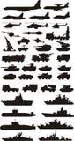 Militaire silhouetten Royalty-vrije Stock Fotografie