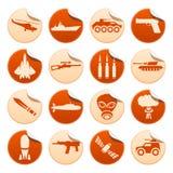 Militaire stickers Royalty-vrije Stock Fotografie