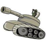 Militaire Tank royalty-vrije illustratie