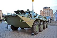 Militaire tentoonstelling op straat Kreshatik in Kiev, Stock Afbeeldingen