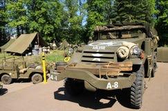 Militaire tentoonstelling in Pilsen Stock Foto