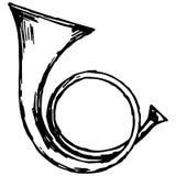 Militaire trompet vector illustratie