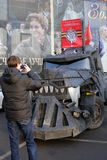 Militaire uitrusting op de politieke vergadering van Antimaidan Royalty-vrije Stock Fotografie