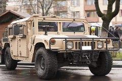 Militaire vervoerder - humvee Royalty-vrije Stock Fotografie