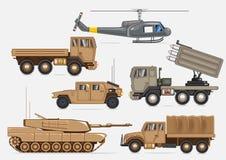 Militaire vervoerinzameling vector illustratie