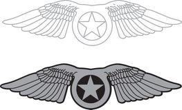 Militaire vleugel Stock Afbeeldingen