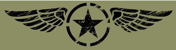 Militaire Vleugels - Zwarte Stock Foto