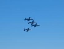 Militaire vliegtuigen Royalty-vrije Stock Foto's