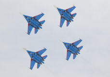 Militaire vliegtuigen su-27 Stock Afbeelding
