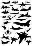 Militaire vliegtuigvector Royalty-vrije Stock Afbeelding