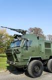 Militaire voertuigvrachtwagen Royalty-vrije Stock Foto's