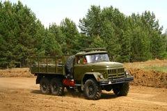 Militaire vrachtwagen Stock Foto