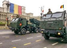 Militaire vrachtwagens Royalty-vrije Stock Afbeeldingen