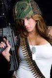 Militaire Vrouw Stock Foto