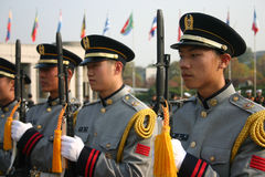 Militaire Wacht, Seoel, Zuid-Korea Royalty-vrije Stock Foto