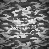 Militaire zwart-witte achtergrond, vectorillustratie Royalty-vrije Stock Foto