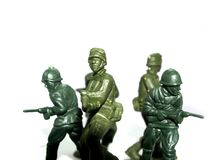 Militairen 2 van het stuk speelgoed Stock Foto's