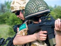 Militairen in actie Royalty-vrije Stock Afbeelding