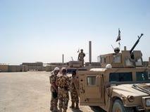 Militairen in Afghanistan Stock Afbeelding