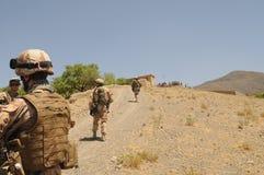 Militairen in Afghanistan Royalty-vrije Stock Afbeelding