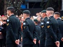 Militairen bij de Dienst van de Herinneringsdag Royalty-vrije Stock Afbeelding