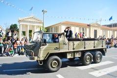 Militairen bij een parade Royalty-vrije Stock Afbeelding