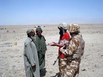 Militairen die vrede brengen Stock Foto