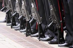 Militairen op een rij Royalty-vrije Stock Fotografie